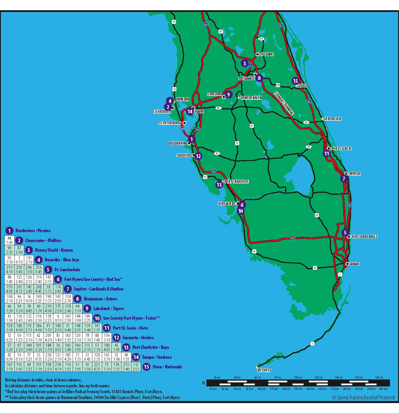 Grapefruit League Map Greeningaustindaily - Florida map viera