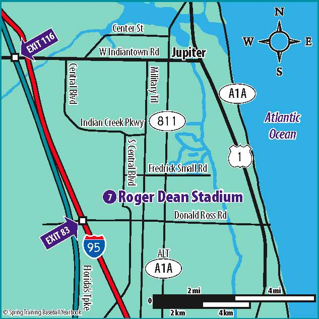Marlins Spring Training Ballpark Map